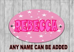 Girls Bedroom Personalised Door Sign Twinkle Stars