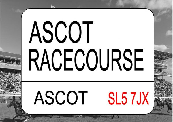 Ascot Races Sign