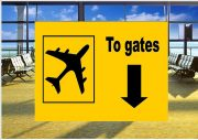 Airport To Gates Sign