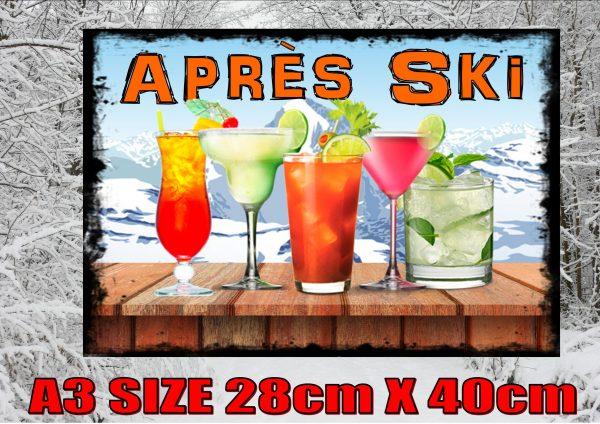 Apres Ski Bar Room Sign