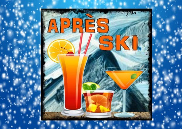 Apres Ski Sign Vintage Style Sign