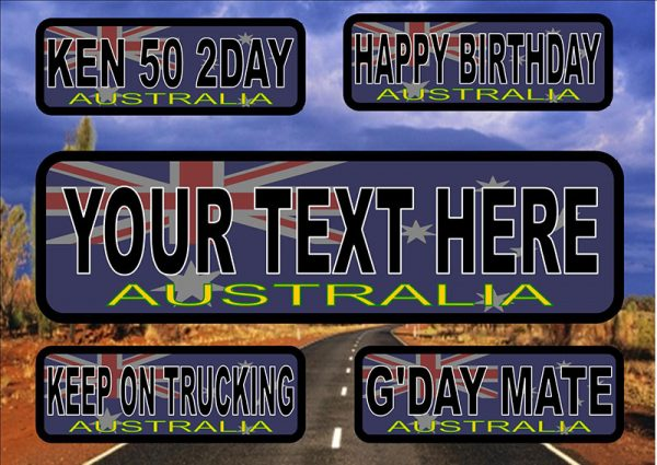 Australia Number Plate/Licence Plate