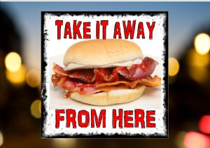 BACON ROLL SIGN