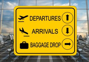 Airport Arrivals Sign