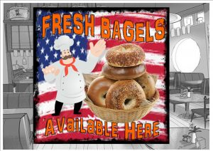 Bagels Cafe Sign