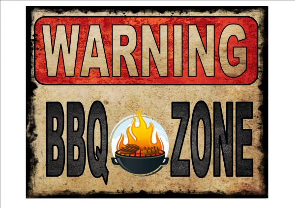 BBQ Zone Sign
