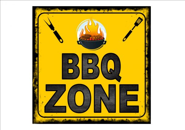 BBQ Zone Plaque