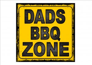 Dads BBQ Zone Sign