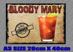 Bloody Mary Cocktail Sign