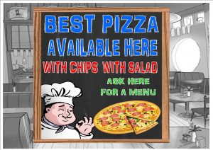 Bon Appetit Pizza Cafe Sign Wall Plaque