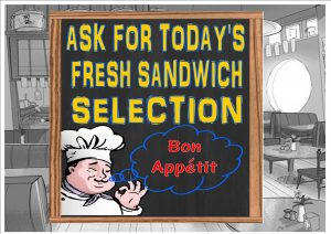 Bon Appetit Sandwich Cafe Sign Wall Plaque