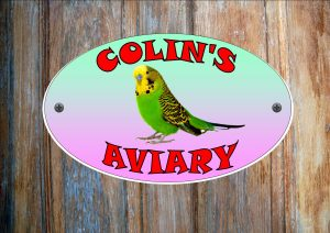 Budgie Green Personalised Aviary