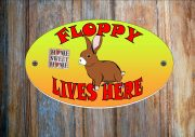 Bunny Rabbit Personalised Hutch Sign