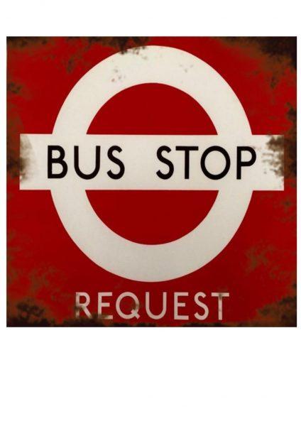 Vintage Bus Stop Sign