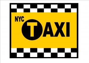 New York Taxi Cab Sign