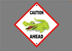 Crocodile Novelty Sign