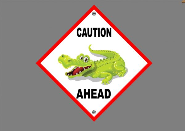 Crocodile Novelty Sign