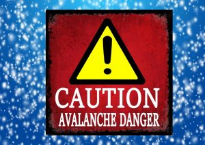 Caution Avalanche Danger Sign