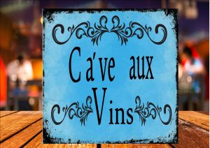 Ca've aux Vins Sign