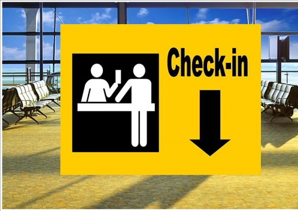 Check In Sign