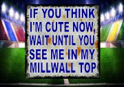 Cute Millwall Football Jersey Sign