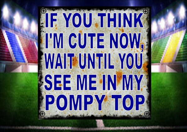 Cute Pompy Football Jersey Sign