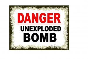 Danger Unexplored Bomb Sign