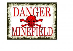 DANGER MINEFIELD SIGN