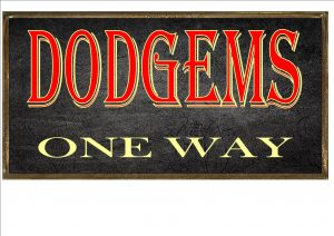 DODGEMS VINTAGE SIGN