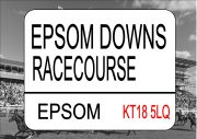 EPSOM Racecourse Sign