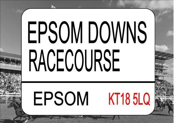 EPSOM Racecourse Sign