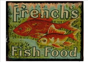FISH FOOD Sign