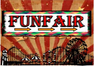 Vintage Funfair Sign Reproduction
