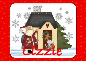 Santa with Christmas Cottage