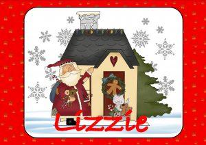 Santa with Christmas Cottage
