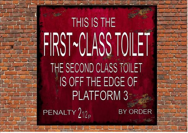 First Class Toilet Sign