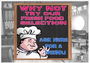 Fresh Food Selection Sign