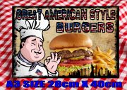 American Burger Bar Sign