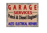 Garage Services Here Sign