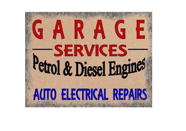Garage Services Here Sign