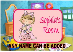 Girls Bedroom Door Plaque