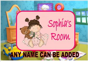 Girls Bedroom Door Plaque