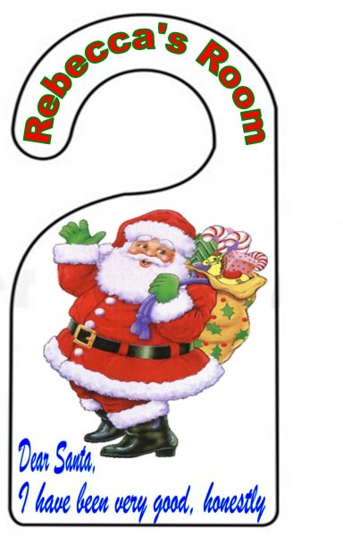 Christmas Girls Door Hanger