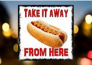 HOT DOG TAKEAWAY SIGN