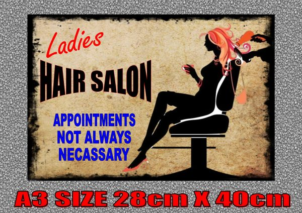 Ladies Hair Salon Sign