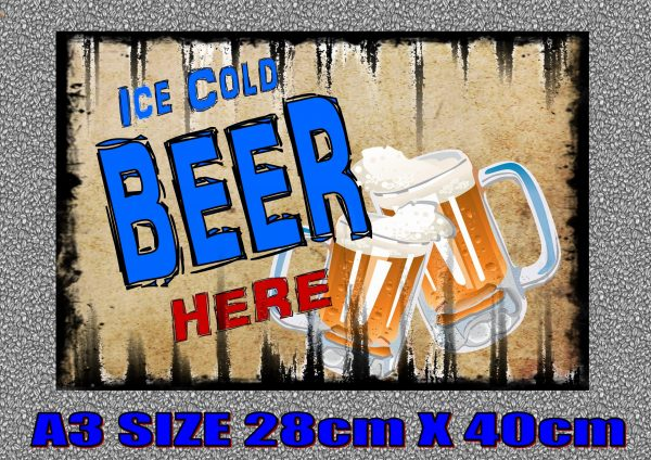 ICE COLD BEER SIGN