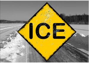 Ice Warning Novelty Ice Road Sign