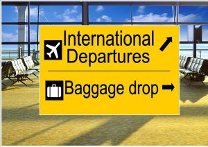 International Departure Sign