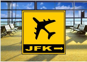 Airport JFK New York sign