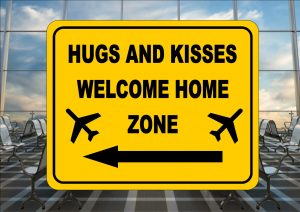 Airport Welcome Home Sign